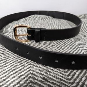 NYCO Black Belt with Rose Gold Buckle